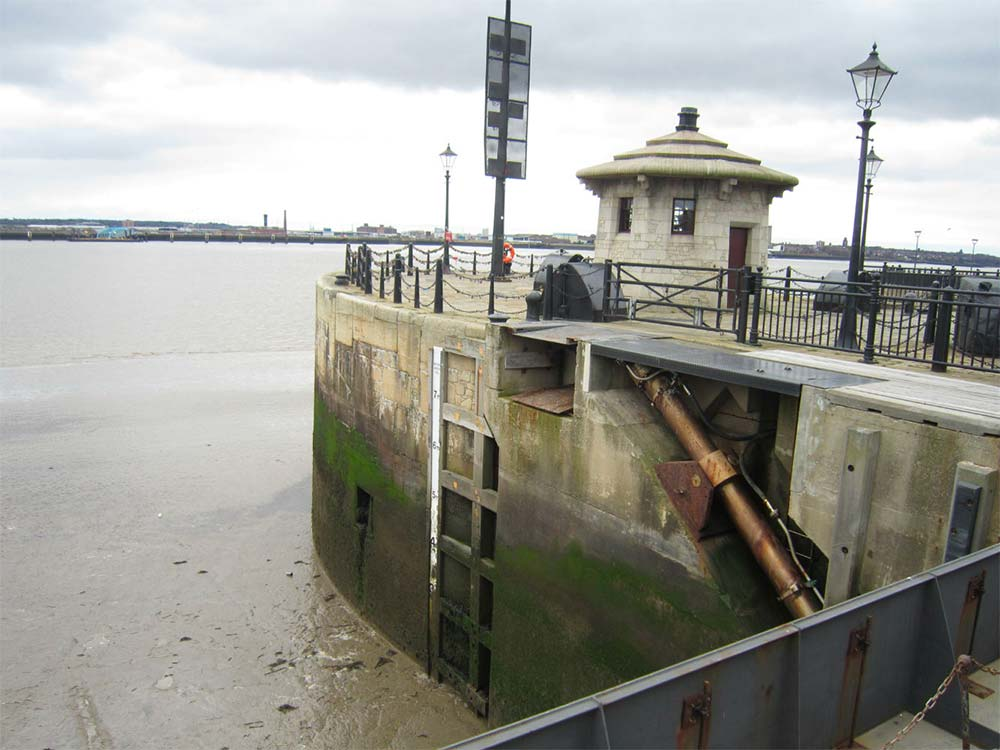 Entrance from the Mersey