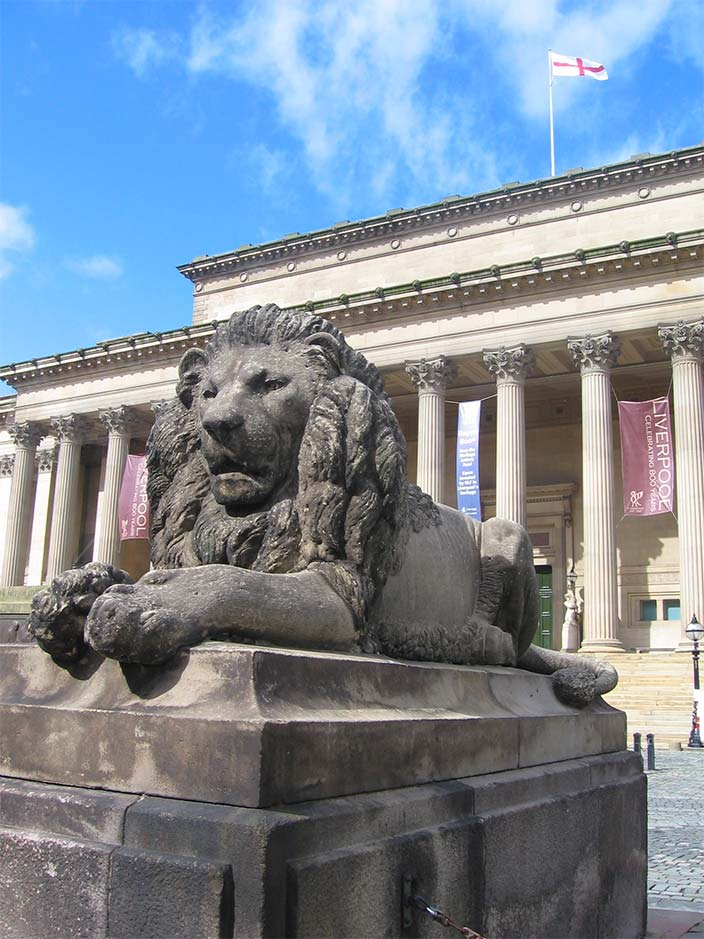 Lion at St George's Hall