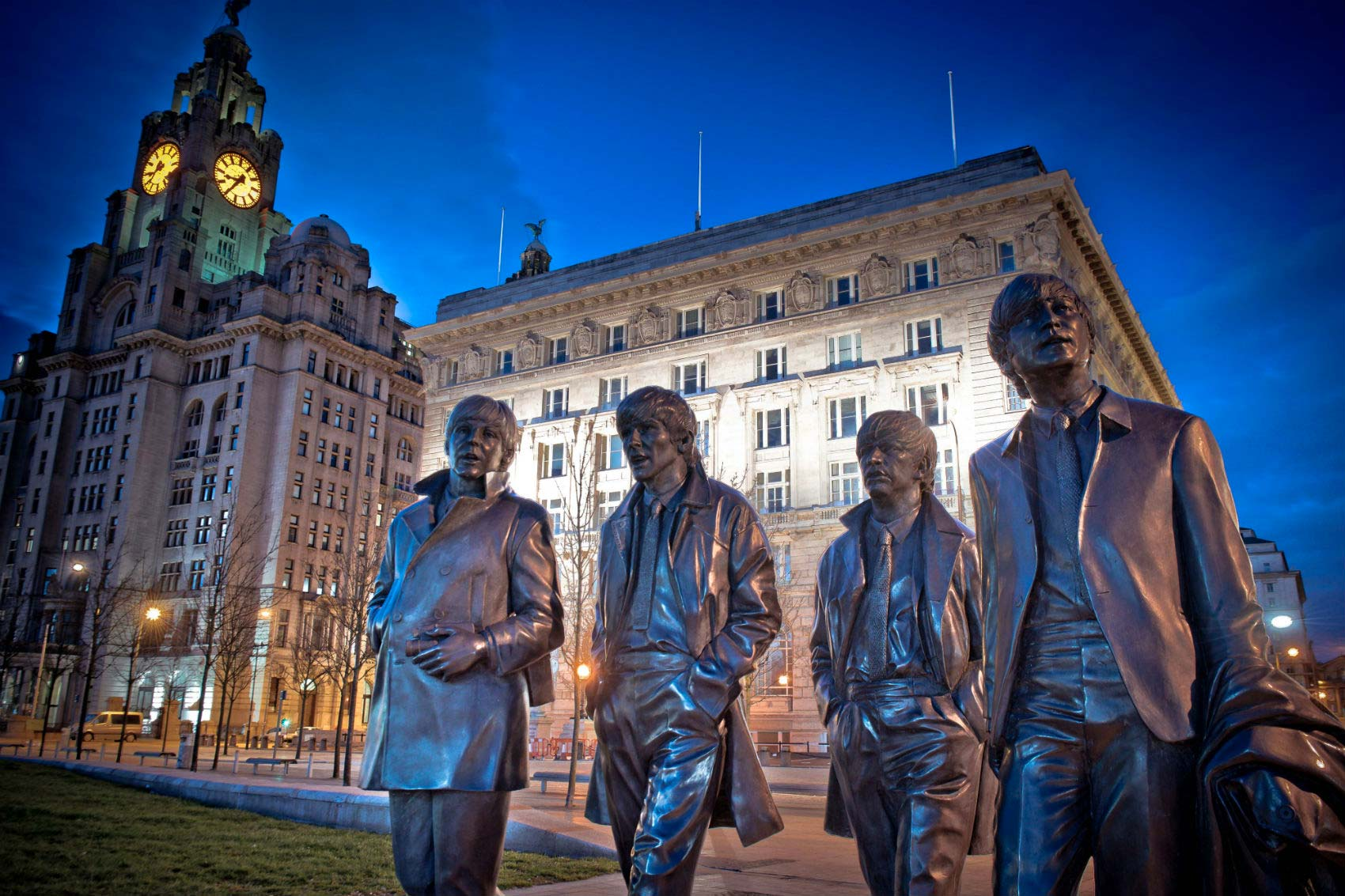 Pier Head and Beatles statues