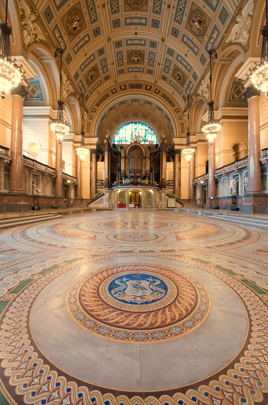 St George's Hall, Minton tile floor