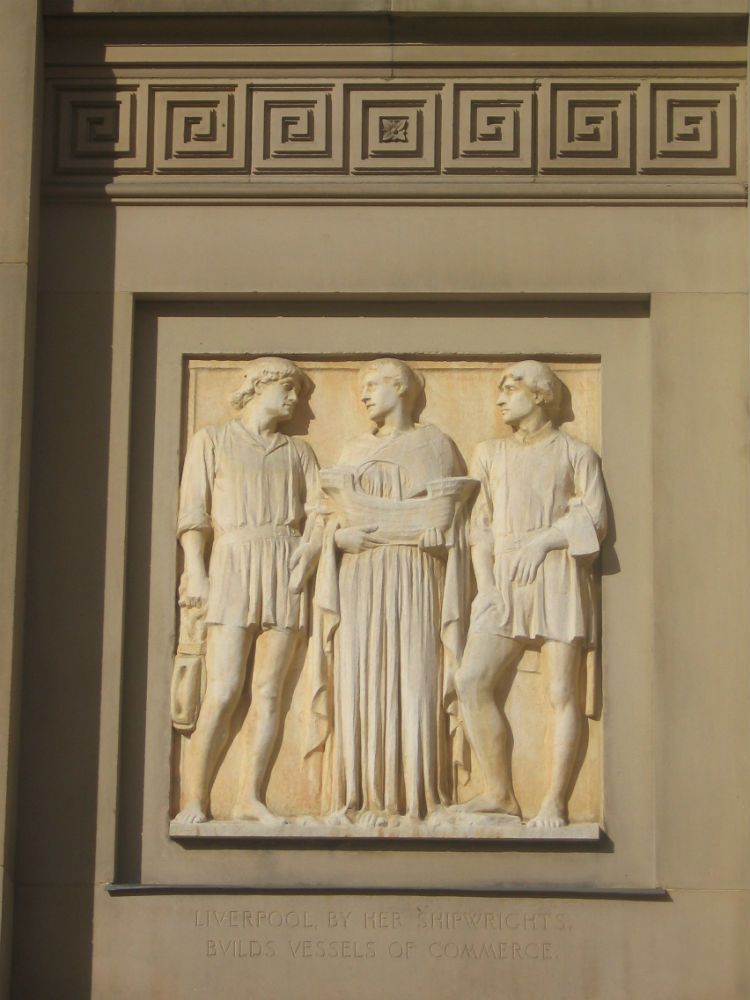 Sculptural relief panel