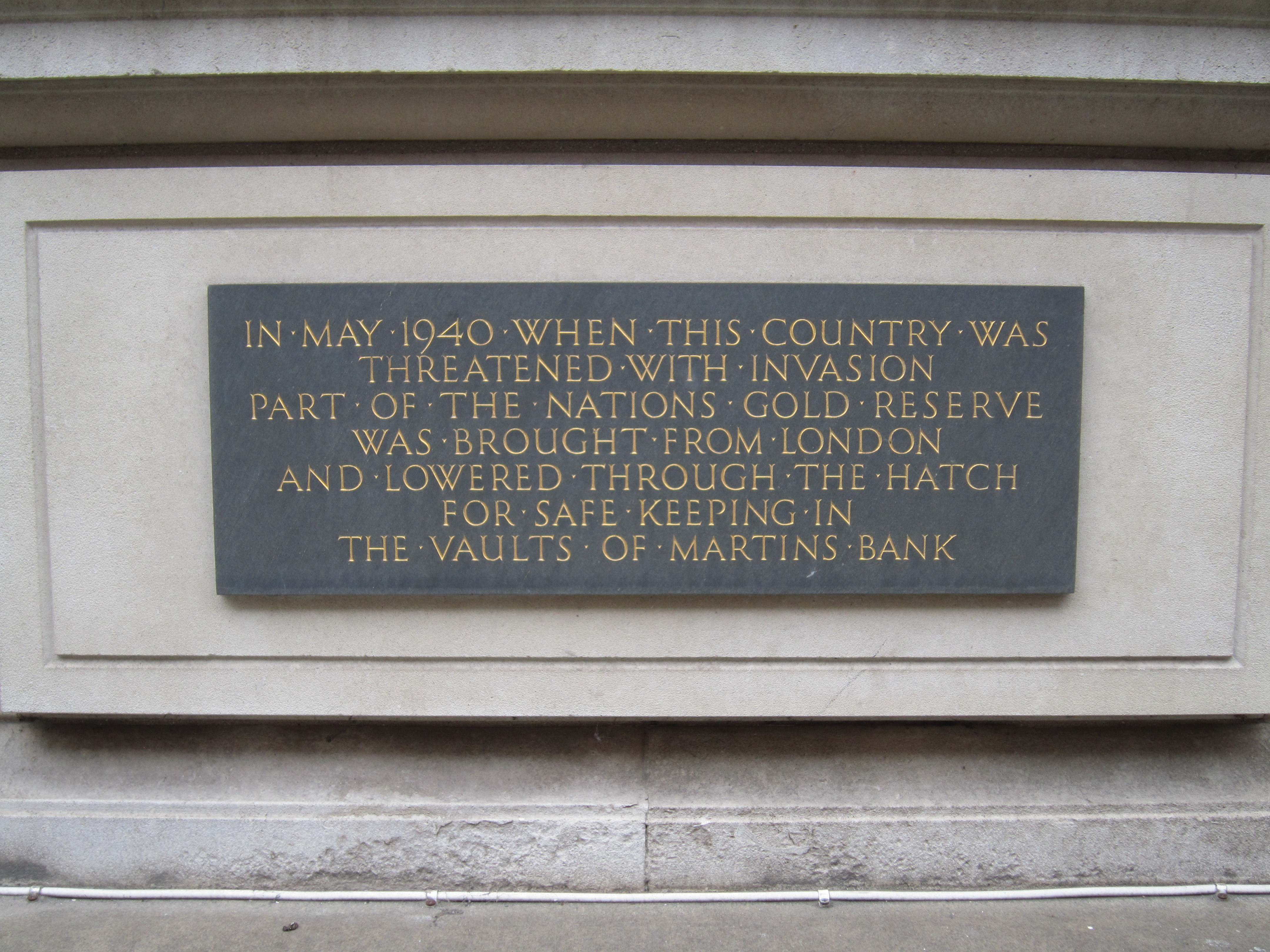 Martins Bank plaque