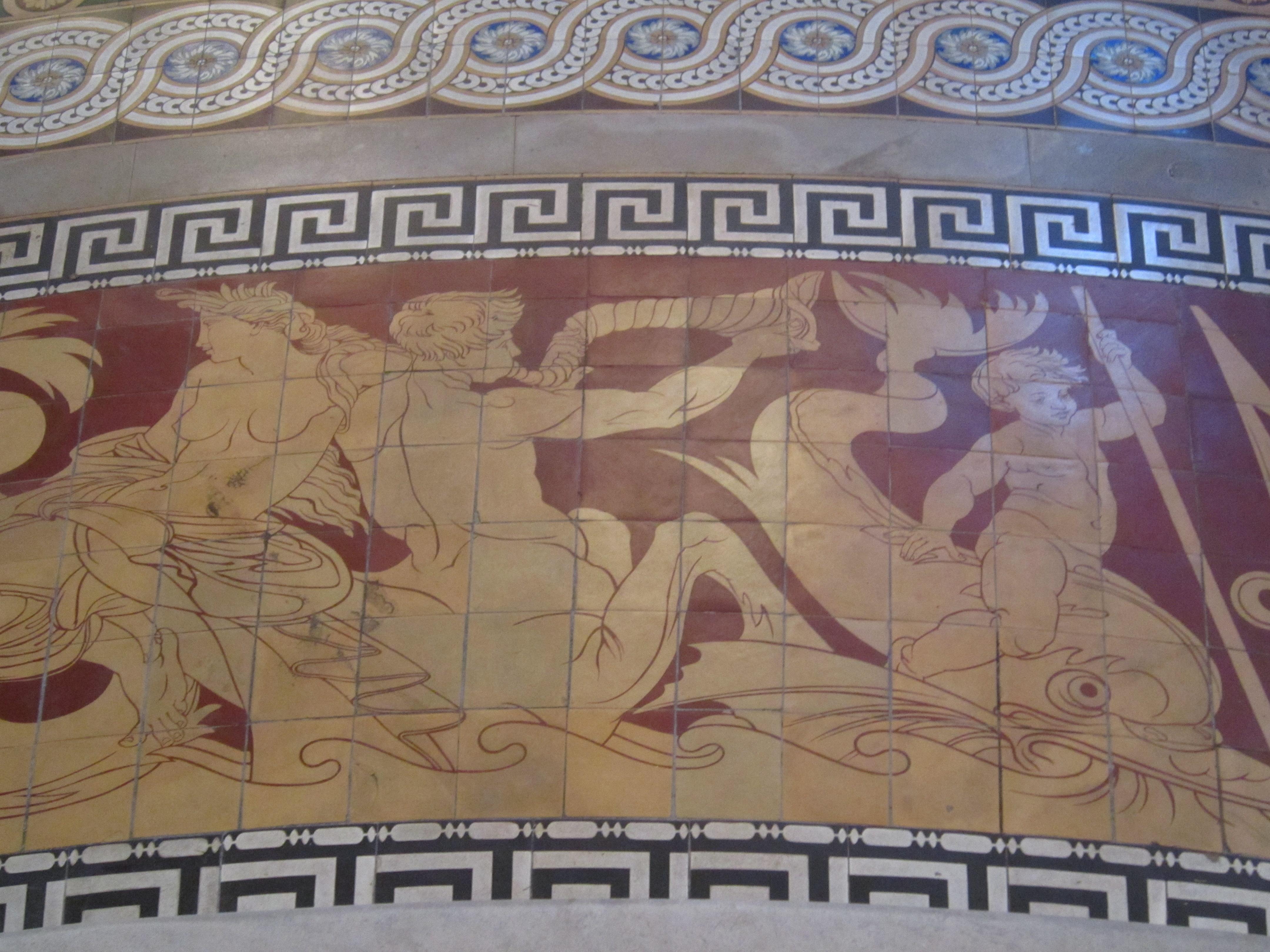 Minton tile detail